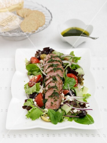 A spring salad with lamb