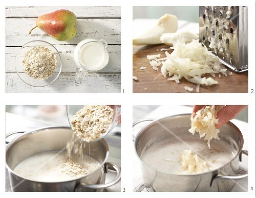 How to prepare pear porridge