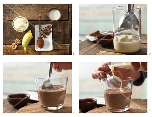 How to make zebra smoothie for children