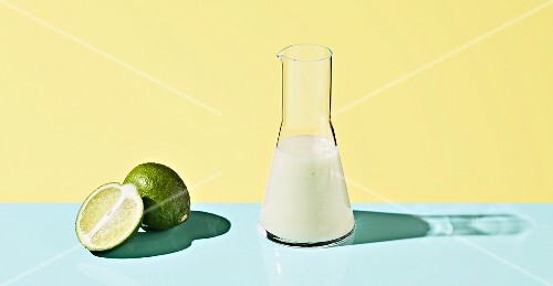 Lime dressing on a coloured background