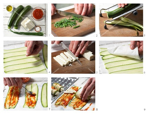 How to prepare courgette rolls