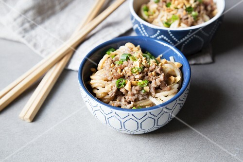 Dandan with minced meat (a Chinese noodle dish)