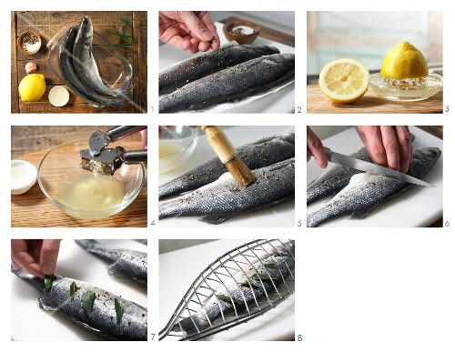 How to prepare bass to be grilled