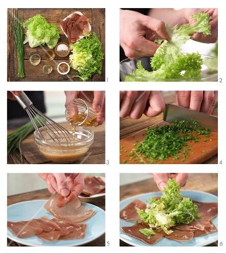 How to prepare ham carpaccio