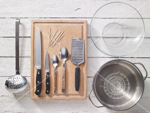 Kitchen utensils for preparing corn on the cob
