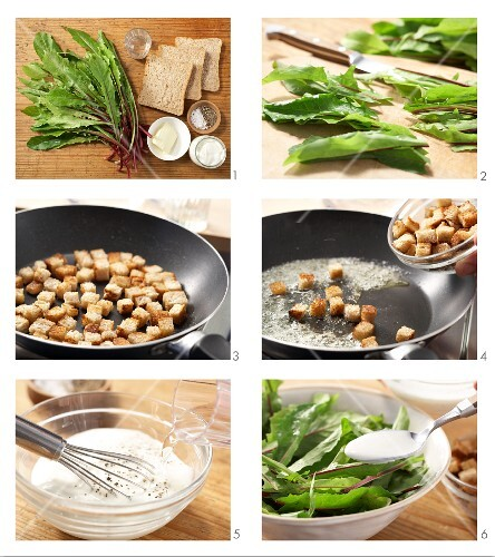 How to prepare dandelion salad