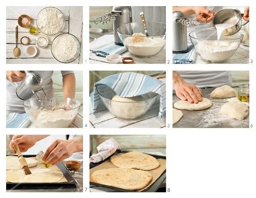 How to prepare spelt flatbread with sea salt