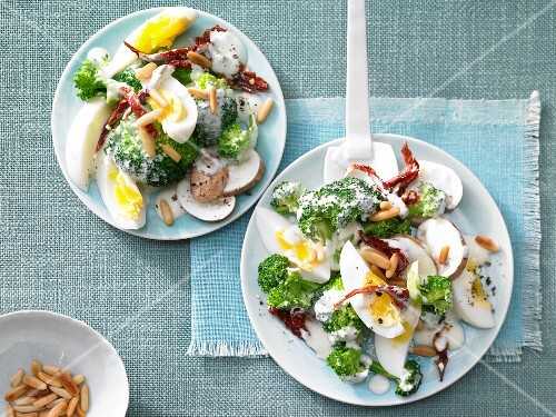 Egg and broccoli salad