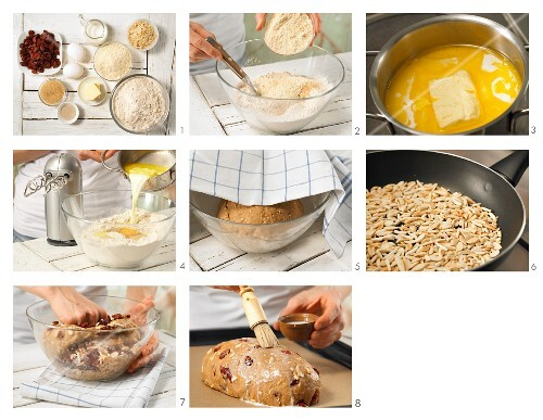 How to prepare a sweet cranberry loaf with almonds
