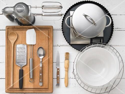 Kitchen utensils for making rice cake