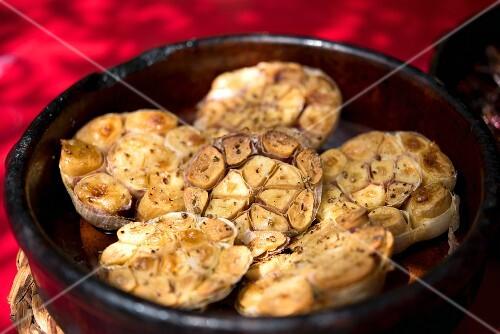 Caramelised grilled garlic