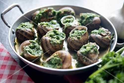 Snails with herbs and garlic