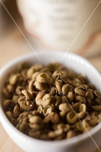 Sichuan pepper in a bowl (close-up)