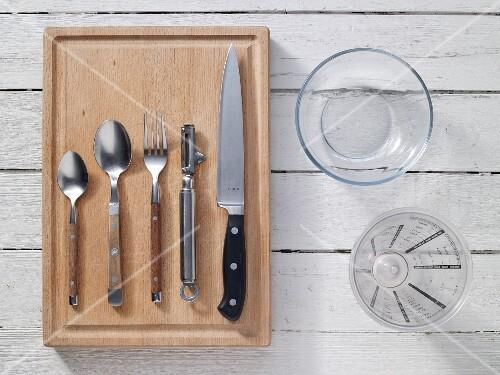 Kitchen utensils for preparing fruit quark