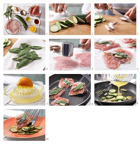 How to prepare veal saltimbocca with sage and Parma ham