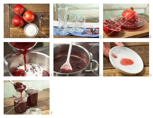 How to prepare pomegranate jam with lavender flowers