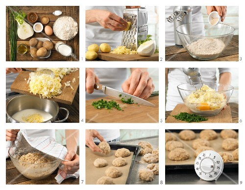 How to prepare potato bread rolls with fennel and chives