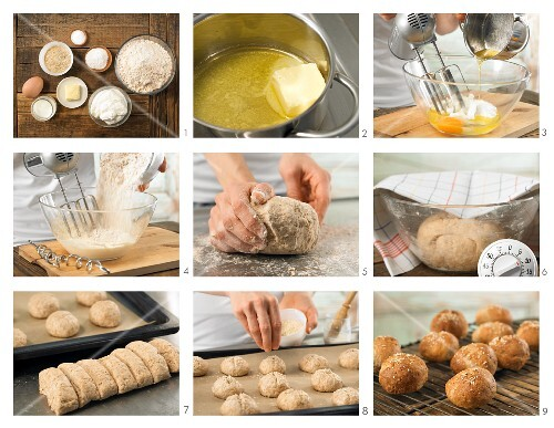 How to prepare sesame seed and quark rolls