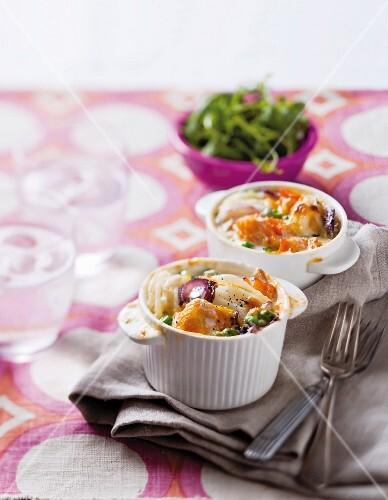 Potato and haddock gratin