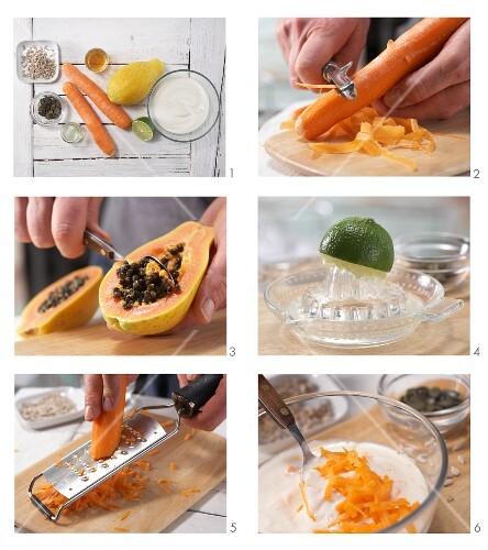 How to prepare carrot and papaya shake