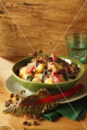 Gnocchi with colourful chard