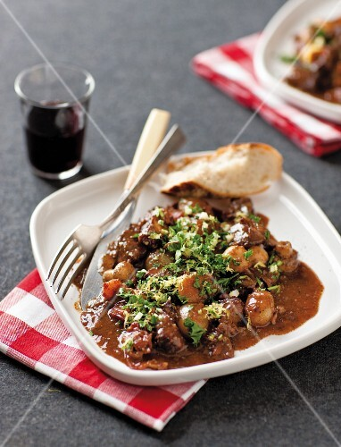 Slow-cooked French beef stew
