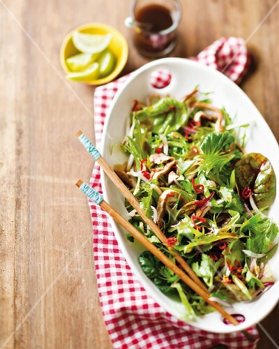 Asian steak salad with spicy chilli dressing