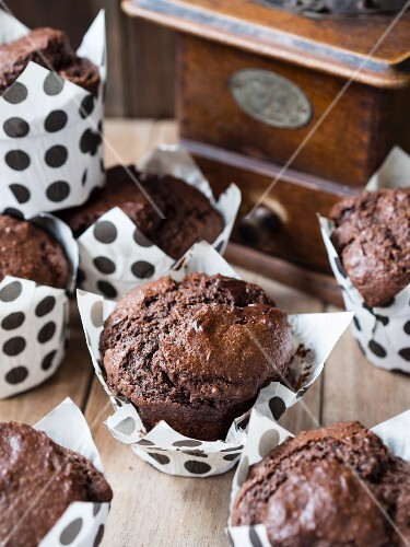 Vegan wholemeal chocolate muffins