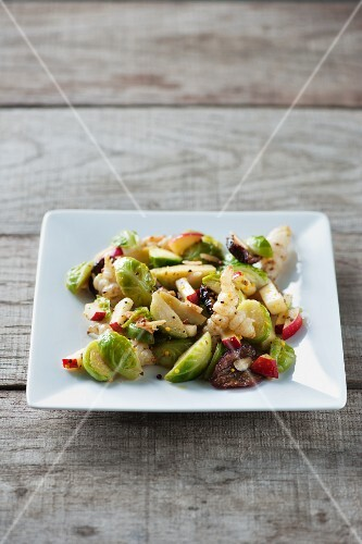 Brussels sprouts with Japanese artichoke