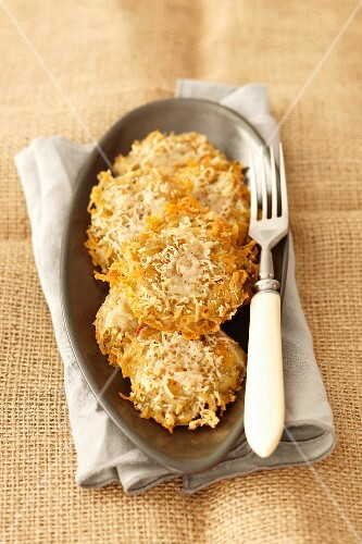 Potato fritters with Parmesan