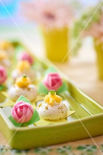 Mini pavlovas at a wedding buffet