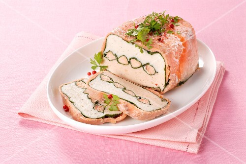 Festive smoked fish terrine