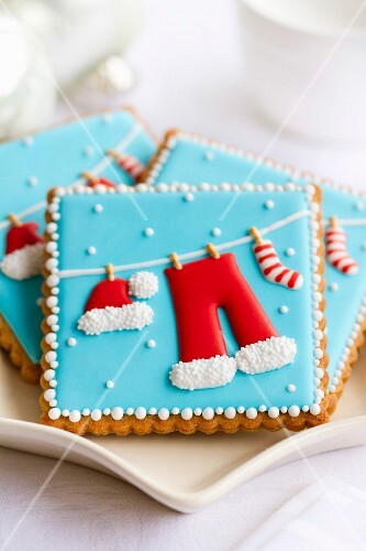 Plate of decorated Christmas cookies