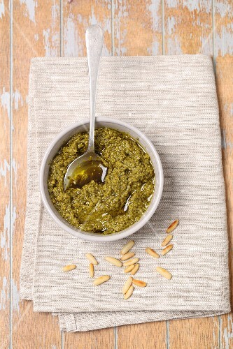 Basil pesto with pine nuts