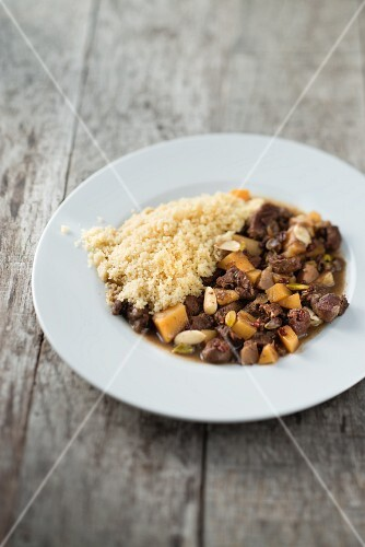 Kid goat & swede stew with couscous