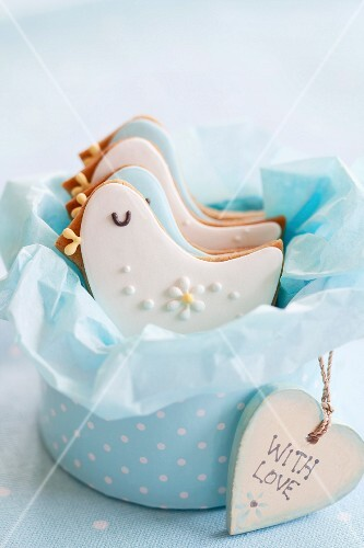 Gift box of baby shower cookies