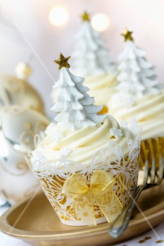 Cupcakes for a Christmas party