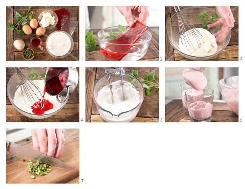 Yogurt creme with pistachios