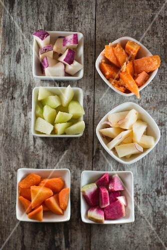 Marinated winter vegetables
