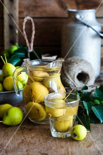 Russian Pear kompot (a non-alcoholic fruit drink)