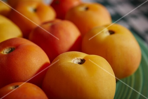 Several Garden Peach Tomatoes