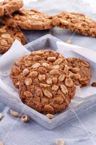 Healthy oat biscuits with peanuts