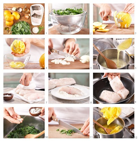 How to prepare a fillet of cod with spinach