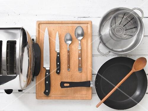 Kitchen utensils for preparing ratatouille