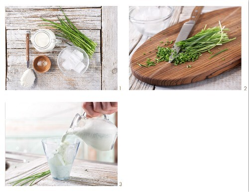 How to prepare a savoury milkshake with chives