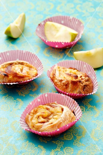 Pastry swirls with an apple filling