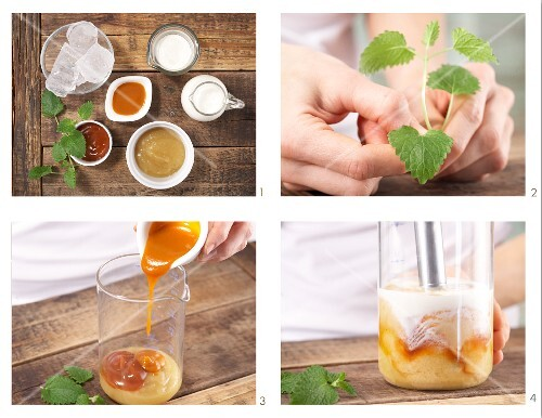 How to prepare a wild fruit smoothie with lemon balm
