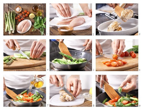 How to prepare chicken breast with asparagus