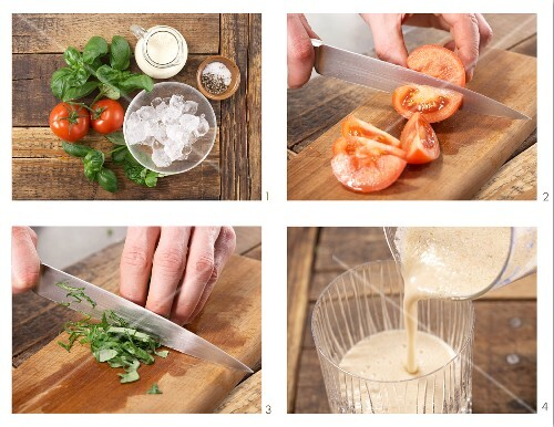 How to prepare tomato and soya smoothie