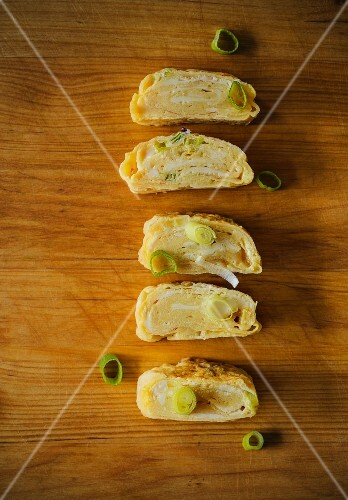 Japanese omelette with spring onions
